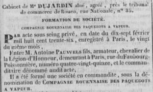 1836-02-29 Journal Rouen Paquebots1